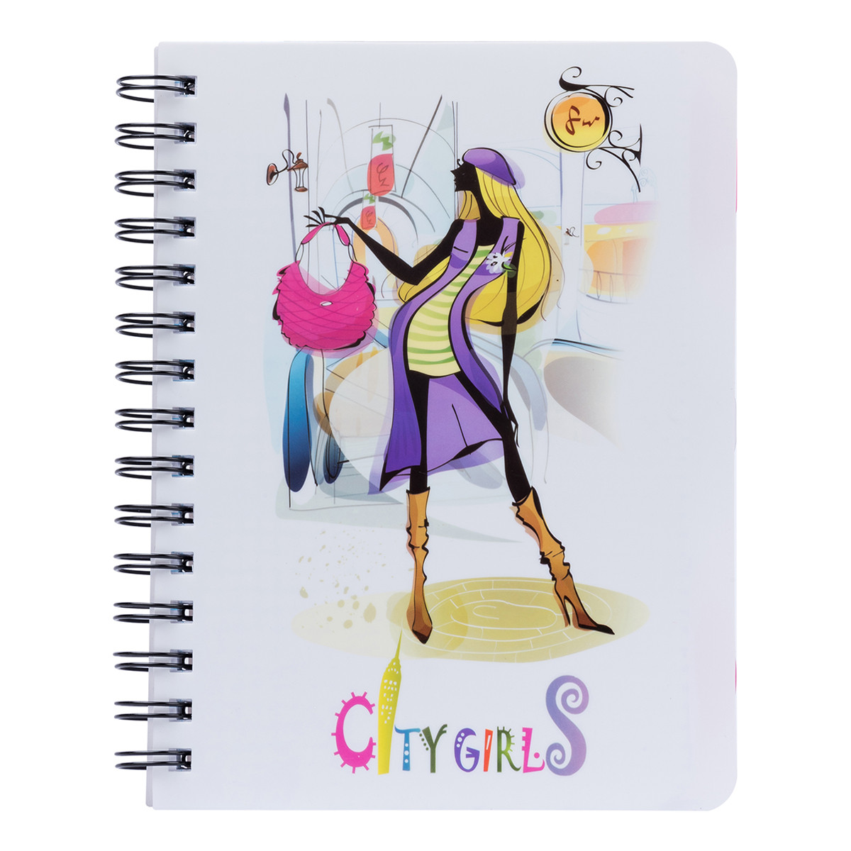 Тетрадь для записей А5/120 пл.обл. City girls YES