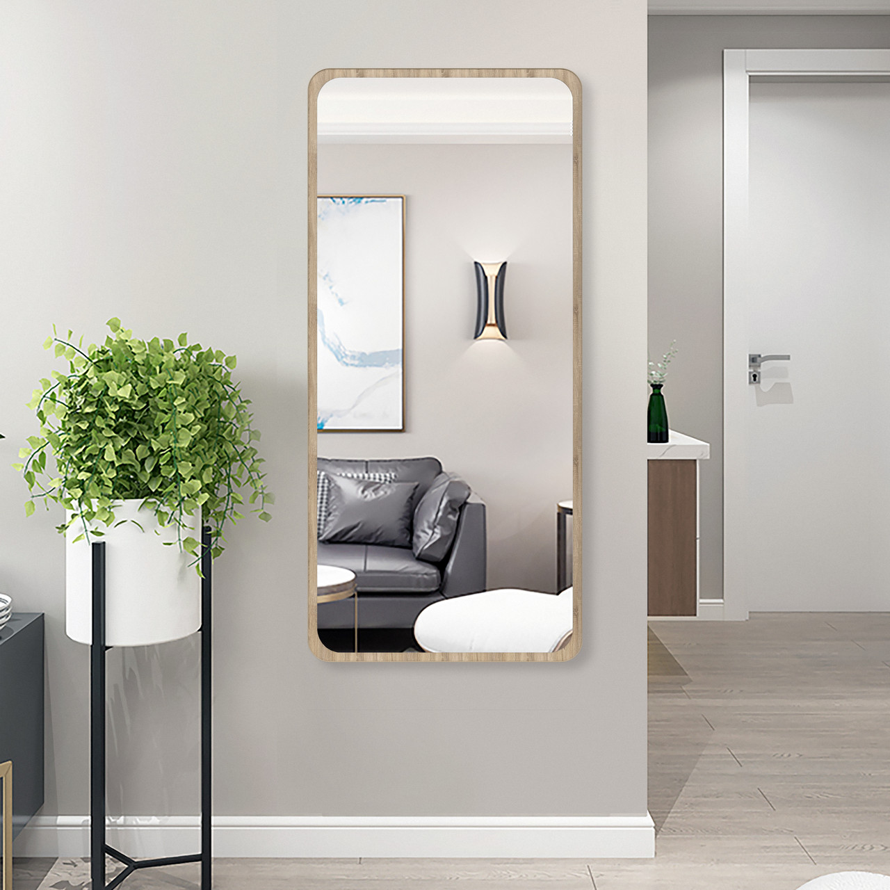 Зеркало в полный рост дуб сонома 1300 х 600 мм