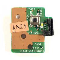 Плата кнопки включения HP Pavilion dv7-2000, dv7-3000 DAUT3APB6C1 REV:C БУ