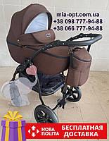 Детская коляска 2 в 1 Classik Len (Классик Лен) Victoria Gold Коричневый