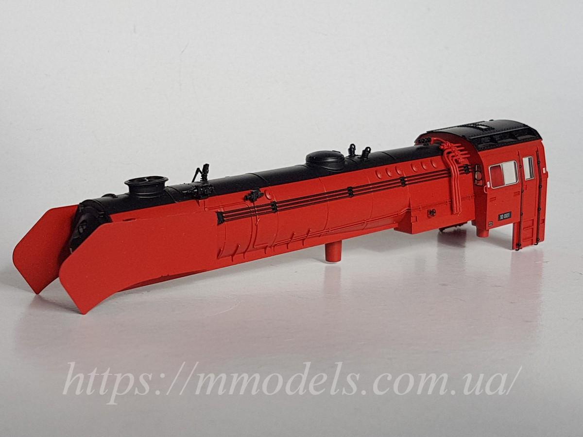 Кузов (корпус) модели паровоза серии 10 001  в металле / Märklin, масштаба 1:87,H0