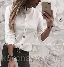 Блузка женская Размеры:  48-50, 52-54Цвет: розовый, белый, черный