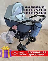 Детская коляска 2 в 1 Classik Len(Классик Лен) Victoria Gold синий