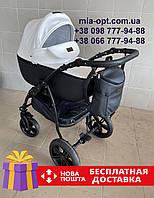 Детская коляска 2 в 1 Classik (Классик) Victoria Gold эко кожа черно-белая