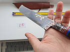 УЦІНКА. Ніж пчак узбецький. Пчак. Ріг козулі рукоять. ШХ-15, фото 5