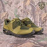 Кросівки Мустанг олива нубук 3D-сітка Airmesh, фото 4