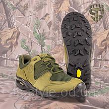 Кросівки Мустанг олива нубук 3D-сітка Airmesh