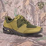 Кросівки Мустанг олива нубук 3D-сітка Airmesh, фото 3