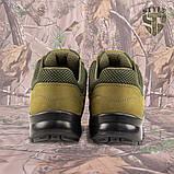 Кросівки Мустанг олива нубук 3D-сітка Airmesh, фото 6