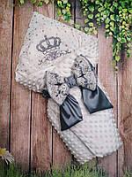 """Конверт на выписку """"Минки """"корона"""", конверт-одеяло на выписку"""