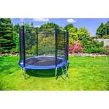 Батут Атлето 252 см для детей с защитной сеткой, садовий для дома и дачи, фото 9