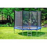 Батут Атлето 252 см для детей с защитной сеткой, садовий для дома и дачи, фото 10