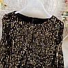 Елегантна велюрова блузка з паєтками 44-46 (в кольорах), фото 6