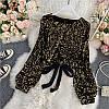 Елегантна велюрова блузка з паєтками 44-46 (в кольорах), фото 7