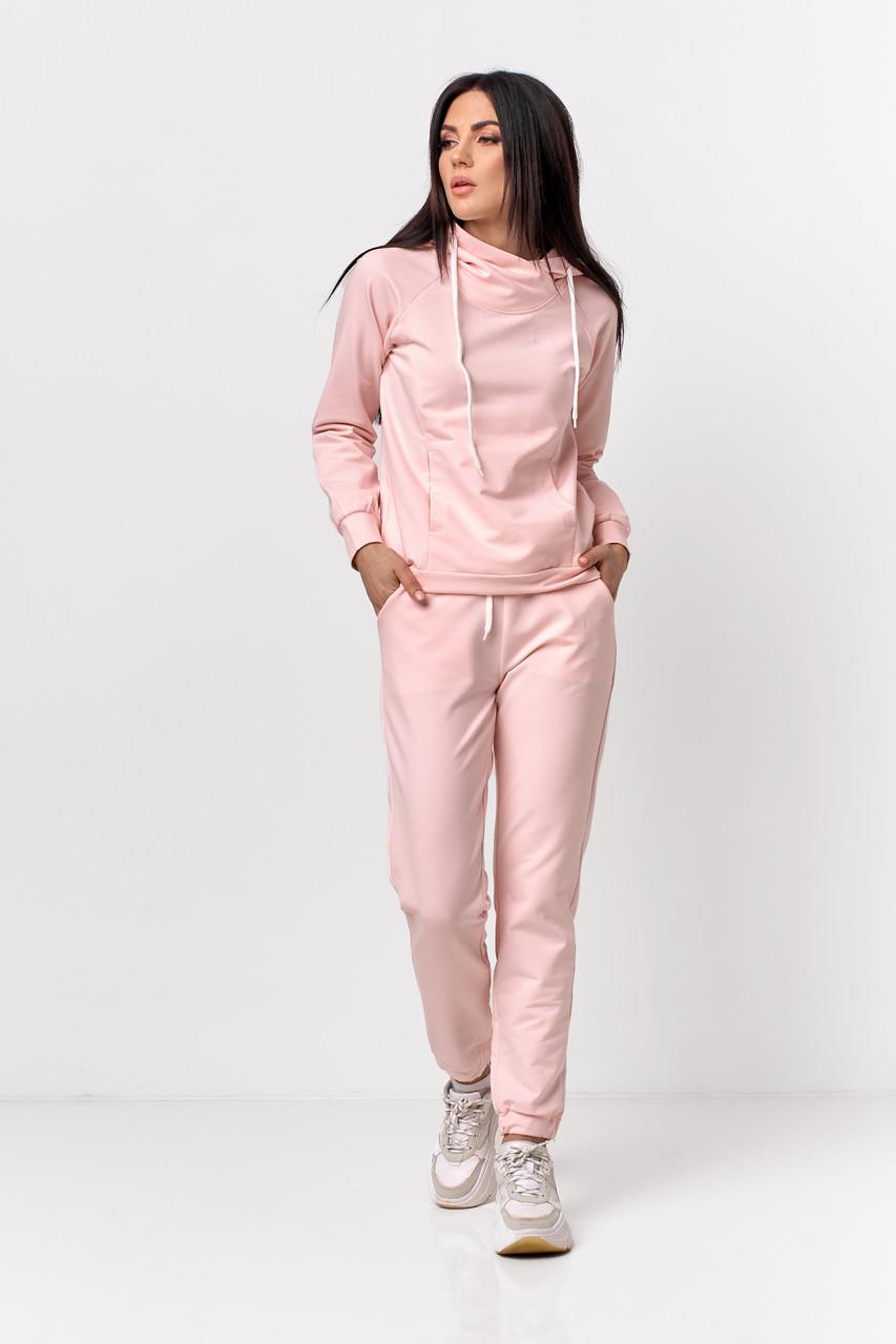 Костюм з худі та штанів рожевий
