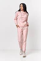 Костюм из худи и брюк розовый