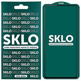 Защитное стекло SKLO 5D (full glue) для Samsung Galaxy A72 4G / A72 5G