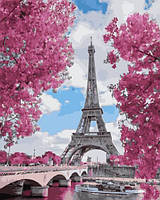 Картины по номерам 40×50 см. Париж. Сады Трокадеро
