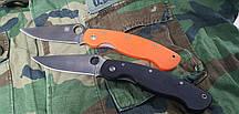 Складной нож Spyderco А11 реплика рукоять черная, оранж