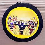 Пиньята лего lego голова бумажная для праздника Піньята лего конструктор голова паперова на день народження, фото 6