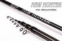 Удилище New Hunter Карбон 6.00м кольца SIC 10-30г Вес 348грам