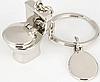 Брелок на ключи унитаз серебристый металл крутой, фото 5