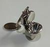 Брелок на ключи унитаз серебристый металл крутой, фото 8