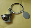 Брелок на ключи унитаз серебристый металл крутой, фото 7