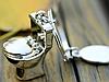 Брелок на ключи унитаз серебристый металл крутой, фото 9