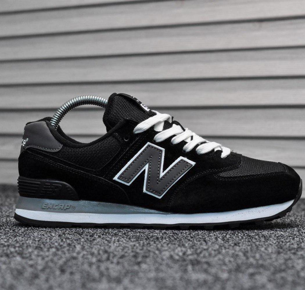 Кросівки чоловічі New Balance 574 Black | Нью Беленс 574 чорні