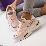 Трендовые розовые кроссовки сникерсы с рефлективными светоотражающими вставками, фото 3