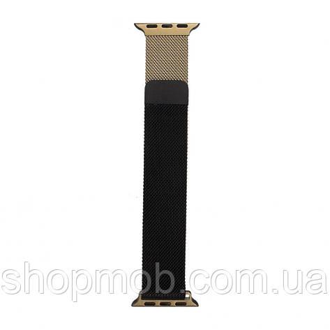 Ремешок для Apple Watch Milanese loop 38 / 40mm Gradient Цвет Чёрно-Золотой, фото 2