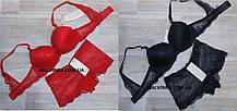 Комплект білизни жіночий пуш-ап Weiyesi червоний 75В ,синій 75,80,85 В .