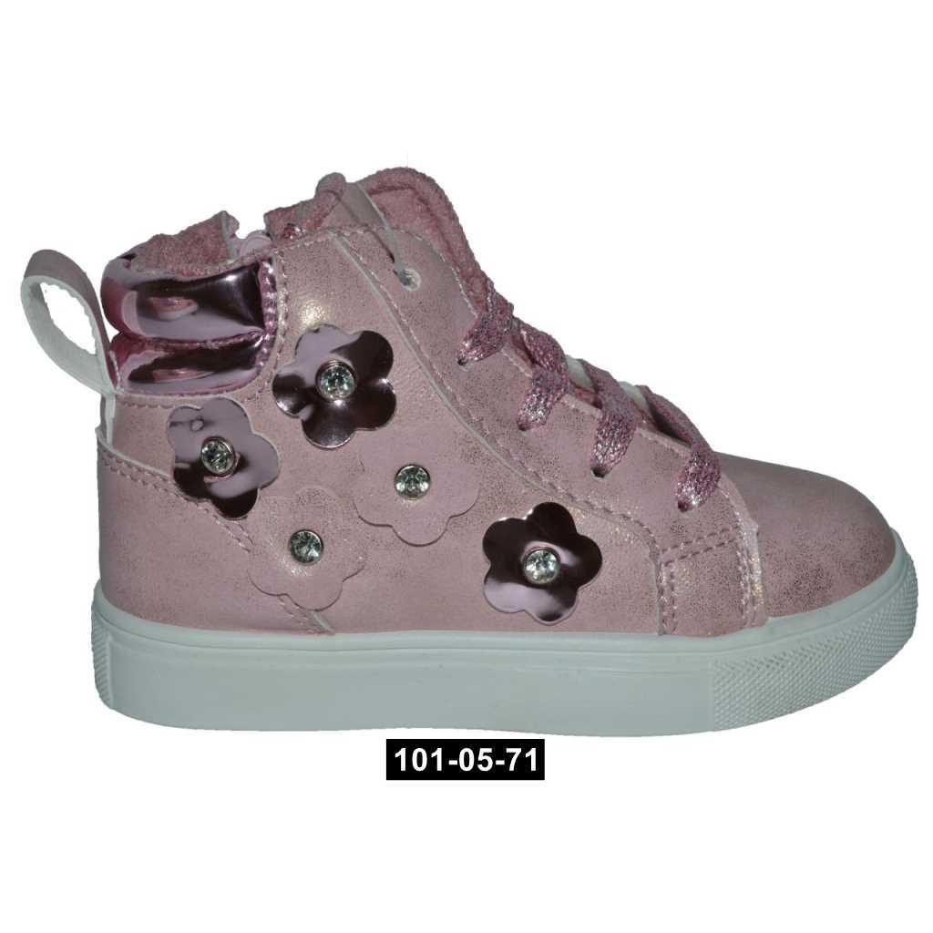 Демисезонные ботинки для девочки, 25-27 размер, хайтопы, кожаная стелька, супинатор, 101-05-71