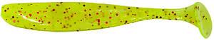 """Силикон Keitech Easy Shiner 5"""" 125мм 5шт./уп. pal01 chartreuseredflake"""