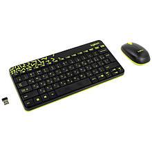 Комплект клавиатура + мышь беспроводной USB Logitech MK240 Nano (920-008213) черный с саталовым новый