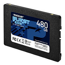 """Накопичувач SSD 2.5"""" 480GB Patriot Burst Elite (PBE480GS25SSDR) R450MBs W320MBs SATA III 7мм новий"""