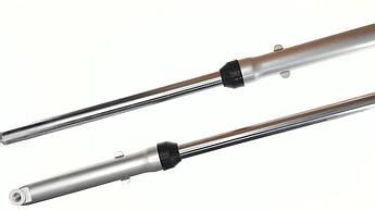 Перья вилки (Амортизаторы передние) на Мопед Дельта (Deltа) (гидравлические, шток Ø27мм) EVO
