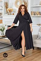 Длинное вечернее платье с V-образным вырезом с 46 по 60 размер, фото 1