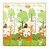 Игровой коврик развивающий для детей 4FIZJO Двухсторонний 180 х 180 см Разноцветный (4FJ0163)