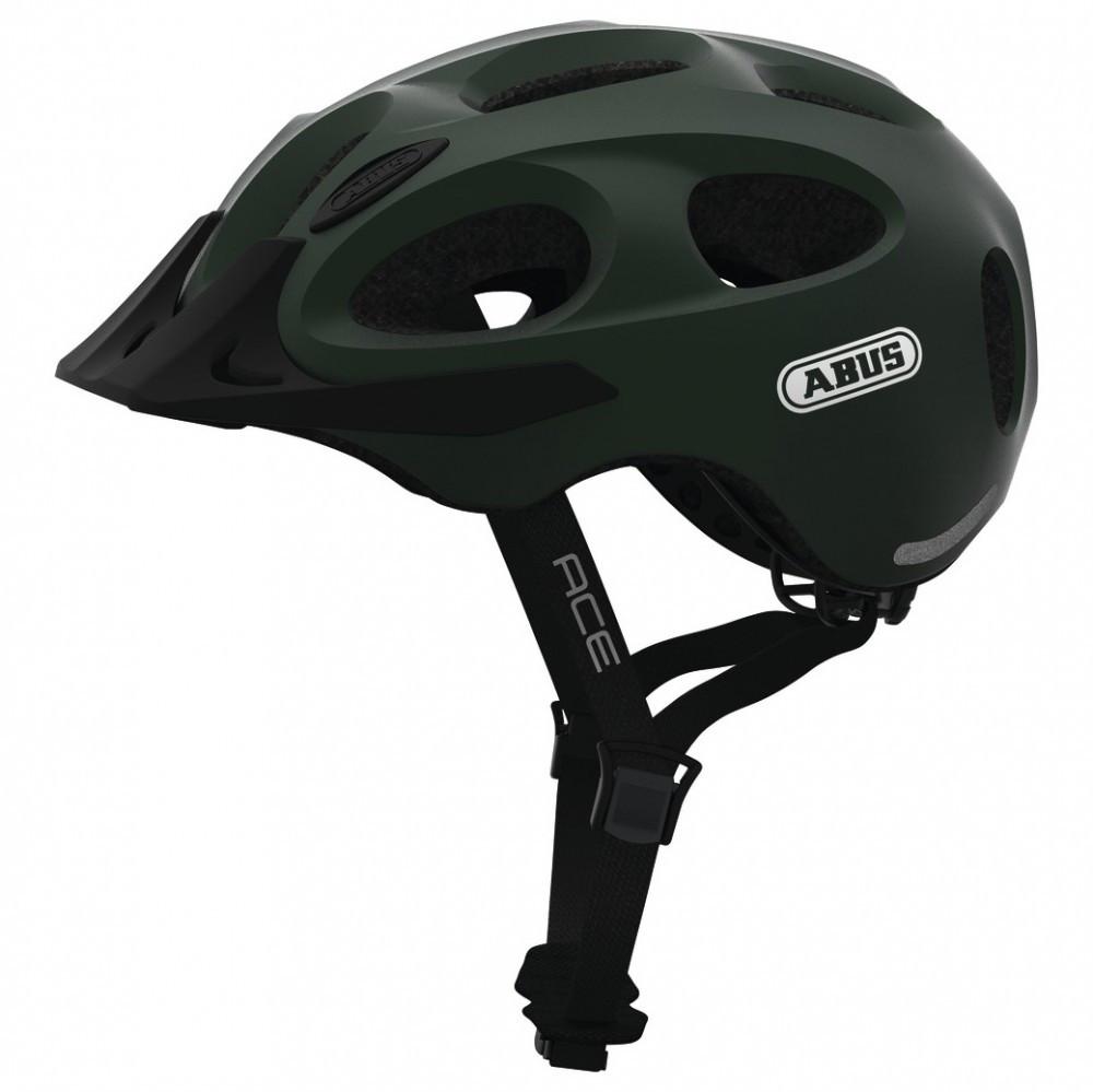 Шолом велосипедний ABUS youn-I ace L 56-61 Metallic Green 818257