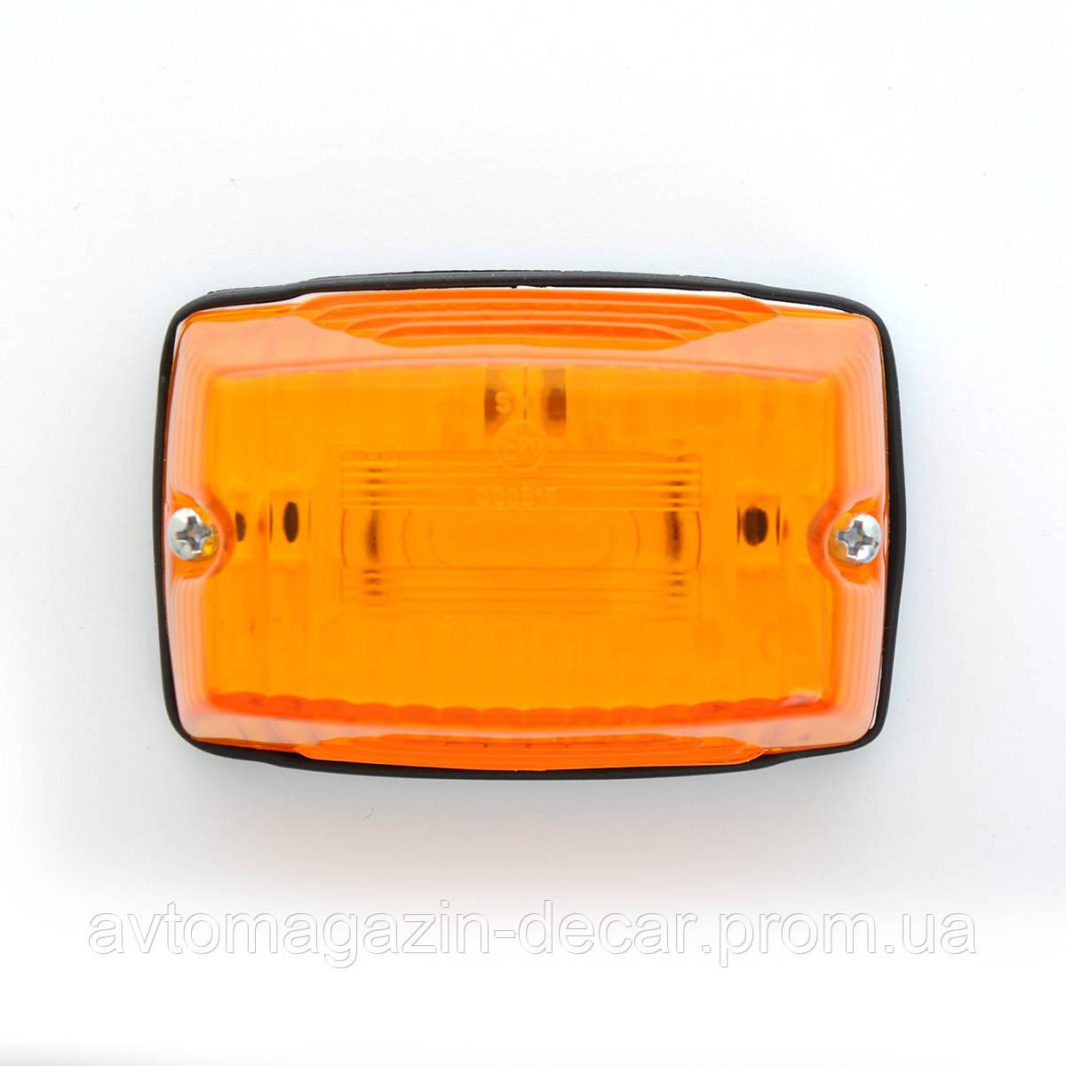 Повтор. поворотов трапеция Fristom FT-006 95х65мм оранжевая (без ламп.)  (1шт)