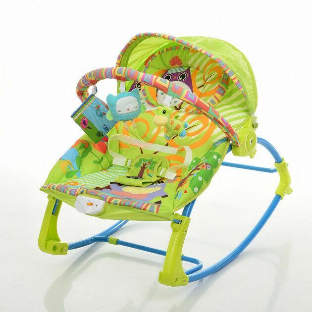 Дитячий шезлонг-качалка Bambi PK-306-5, зелений