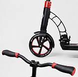 Складной 2-х колесный самокат с зажимом руля и двумя амортизаторами Best Scooter 42923, красный, фото 5