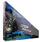 Трюковой самокат профессиональный WORLDSPORT Двухколесный для взрослых и подростков Алюминий Черный (D060-BL), фото 5