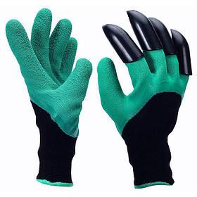 Садовые перчатки Garden Genie Gloves с пластиковыми наконечниками