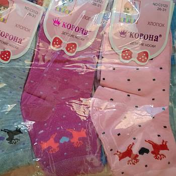 Детские носки на девочку КОРОНА Р.р 26-31