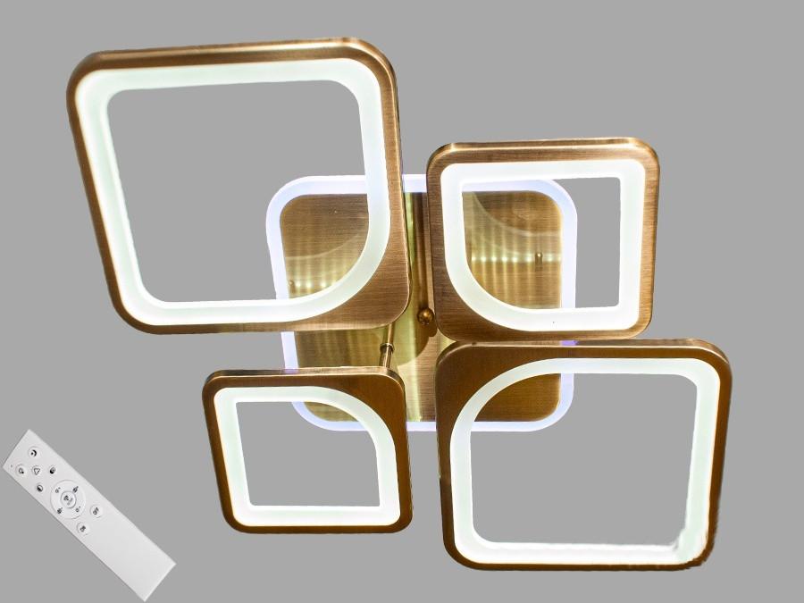 Потолочная LED-люстра с диммером и подсветкой 90W 2281