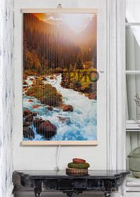 """Електричний настінний обігрівач-картина """"Гірська річка"""""""