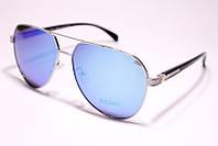 Женские солнцезащитные очки авиаторы с поляризацией Bvlgari P98165 C58 реплика Синие